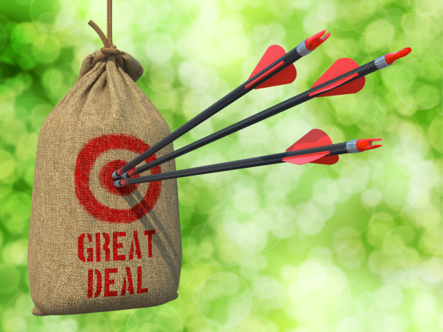 Great Deal - Arrows Hit in Red Target.